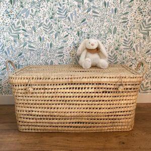 Malle 80 cm feuille de palmier - coffret jouet - bonheur enfantin