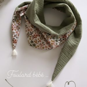 foulard bebe double gaze de coton - cheche - bonheur enfantin