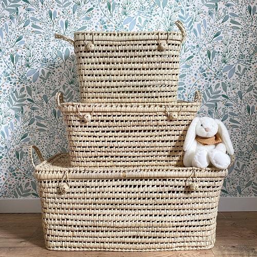 malle artisanale - feuille de palmier - coffret jouet - bonheur enfantin